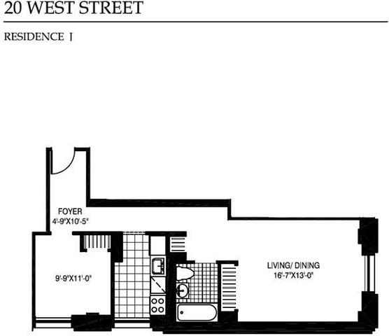 20 West Street, Unit 17J Image #1