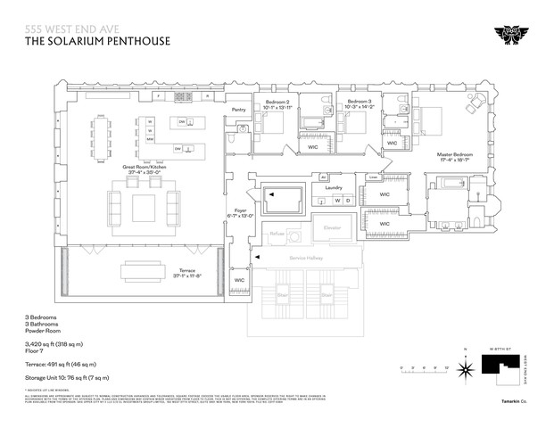 555 W End Ave, Unit The Solarium Penthouse New York, NY 10024