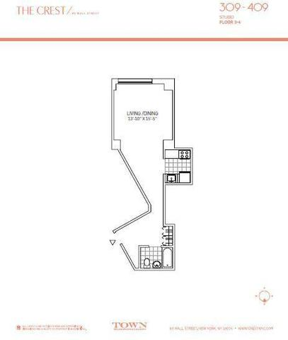 63 Wall Street, Unit 309 Image #1