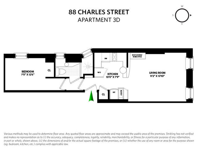 88 Charles Street, Unit 3D Manhattan, NY 10014
