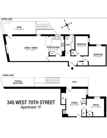 345 West 70th Street, Unit 1F Manhattan, NY 10023