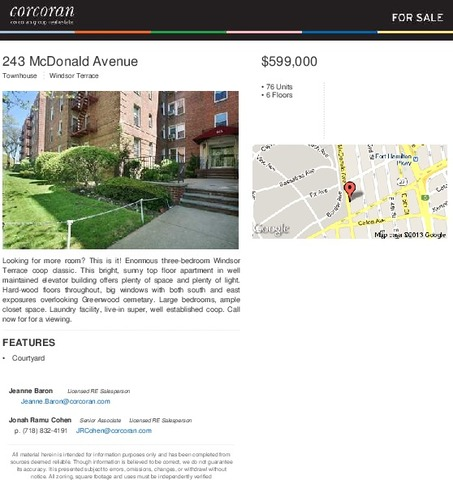 243 Mcdonald Avenue, Unit 1E Image #1