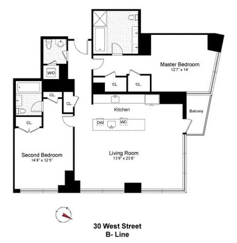 30 West Street, Unit 7B Image #1