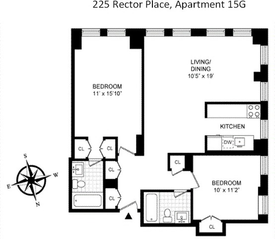225 Rector Place, Unit 15G Image #1