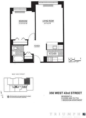 350 West 43rd Street, Unit 4H Image #1