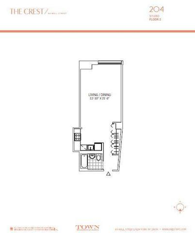 63 Wall Street, Unit 204 Image #1