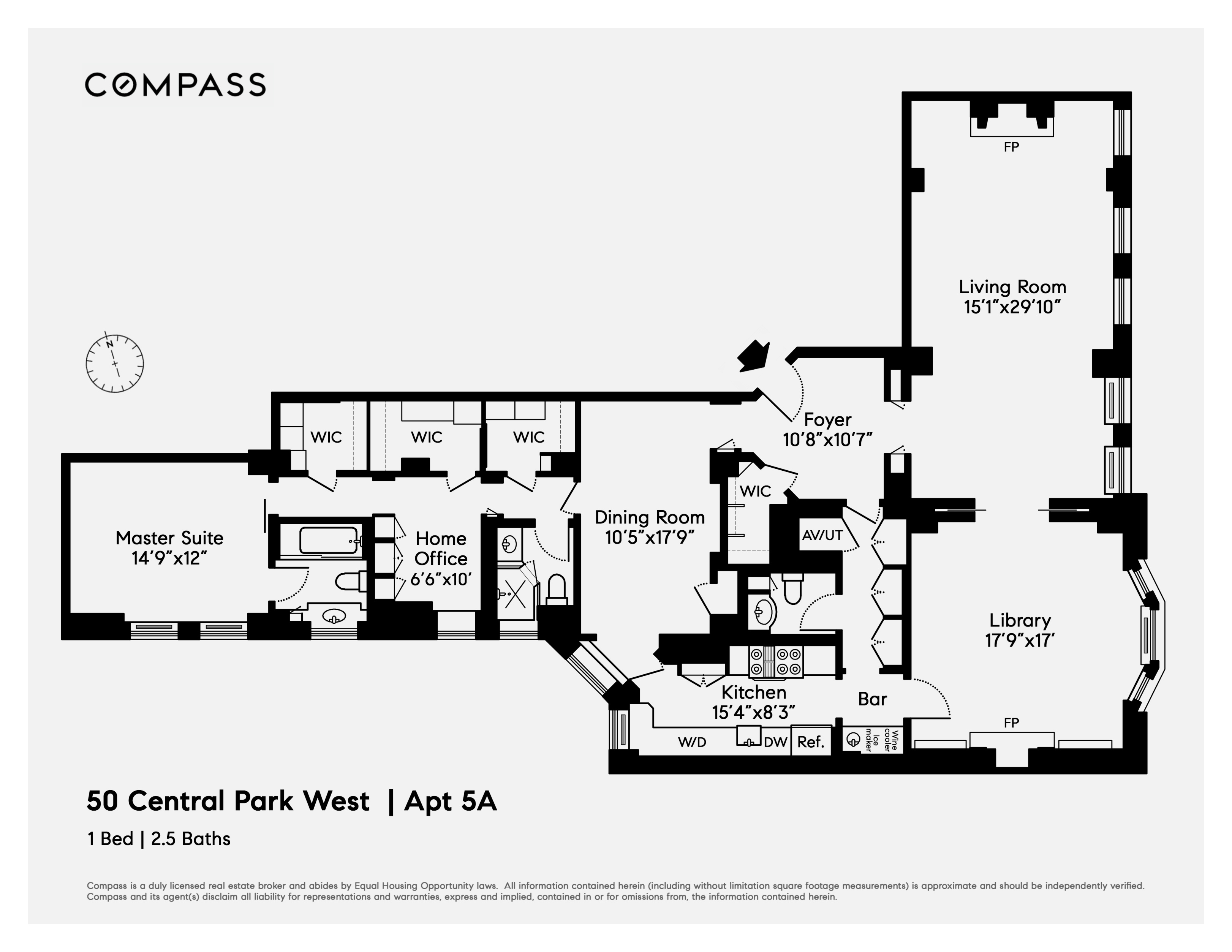 50 Central Park West, Unit 5A Upper West Side, Manhattan, NY 10023 on