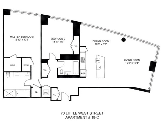 70 Little West Street, Unit 19C Image #1