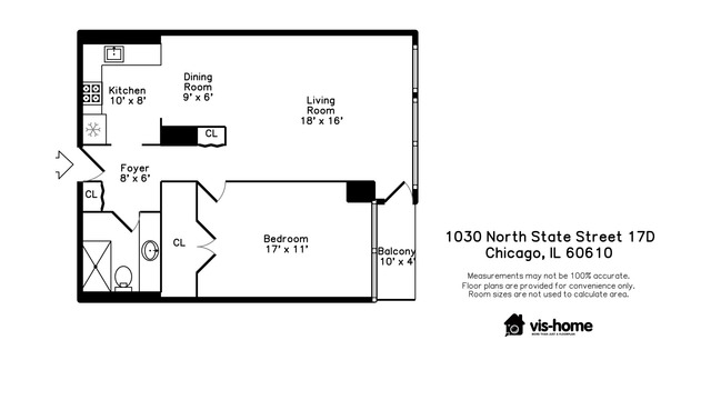 1030 North State Street, Unit 17D, Chicago, IL 60610 | Compass