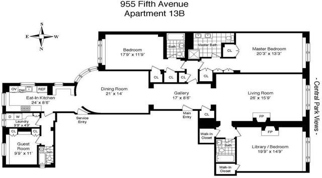955 5th Avenue, Unit 13B Manhattan, NY 10075