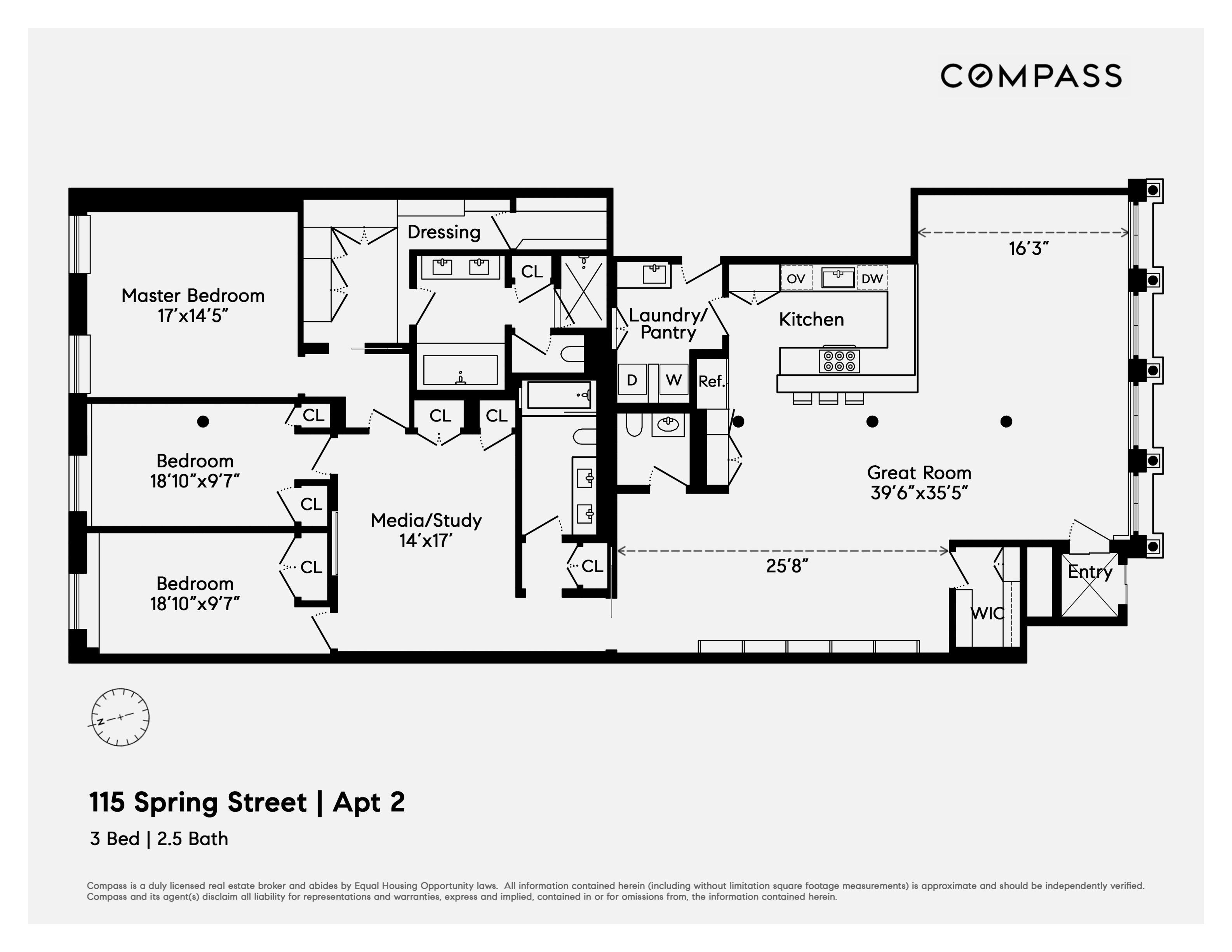 115 Spring Street Unit 2 Manhattan Ny 10012 Compass