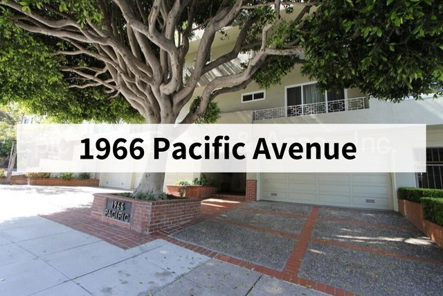 1966 Pacific Avenue, Unit 301 San Francisco, CA 94109