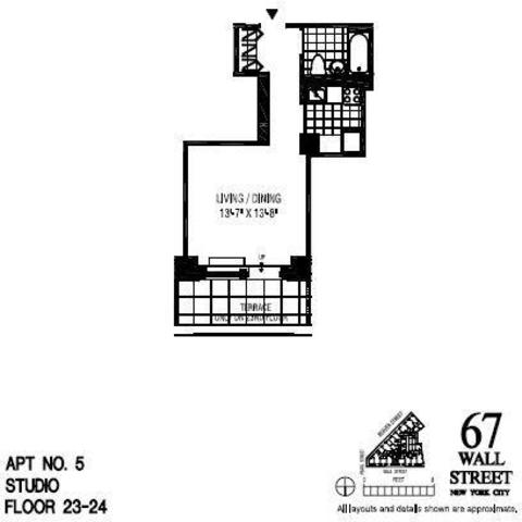 67 Wall Street, Unit 24E Image #1