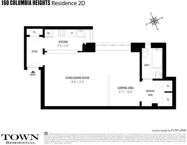 160 Columbia Heights, Unit 2D Image #1