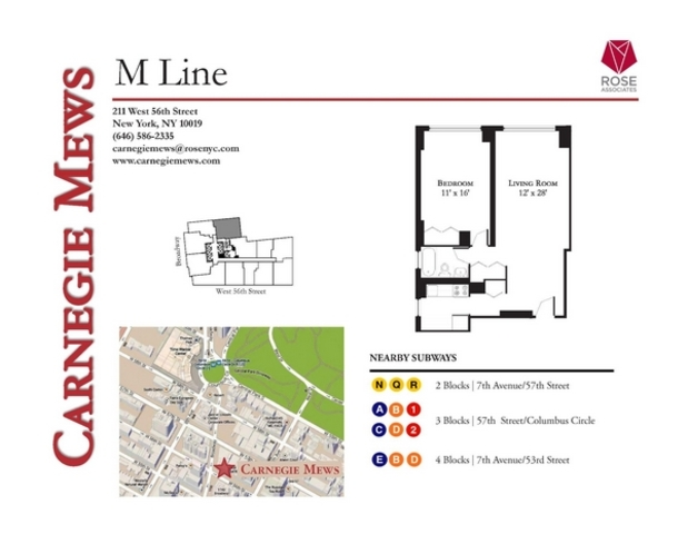 211 West 56th Street, Unit 29M Manhattan, NY 10019