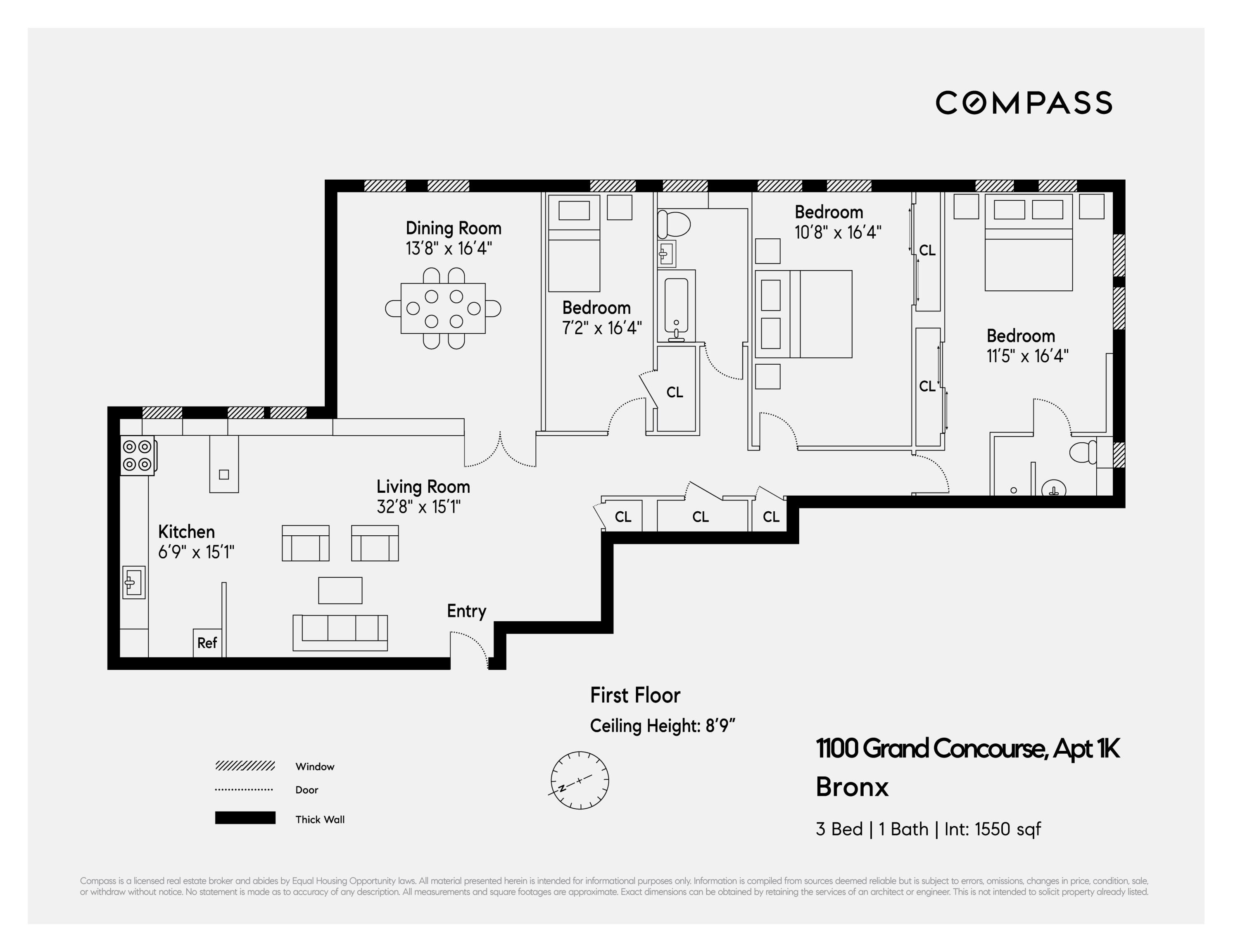 1100 Grand Concourse Unit 1k Bronx Ny 10456 Compass