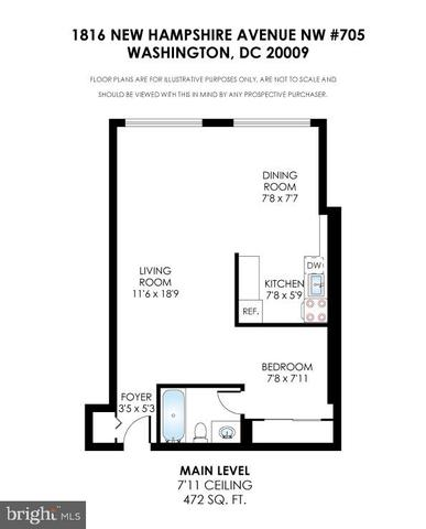 1816 New Hampshire Avenue Northwest, Unit 705 Washington, DC 20009