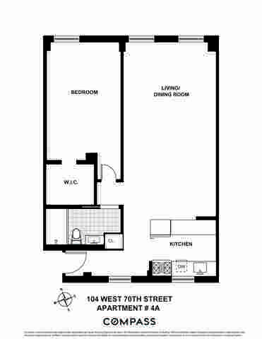 104 West 70th Street, Unit 4A Manhattan, NY 10023
